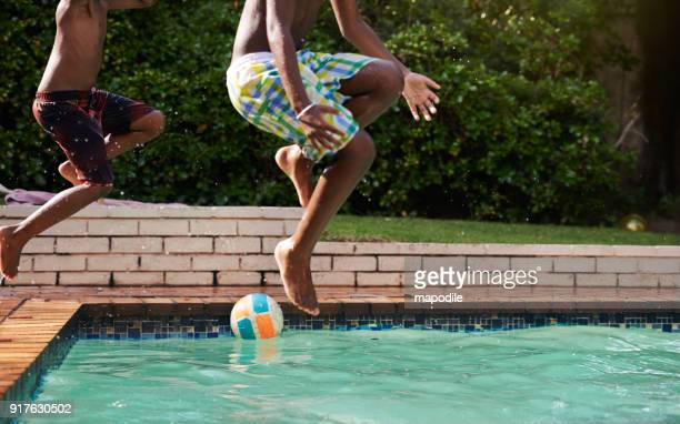 one big summer splash down - black male feet stock photos and pictures