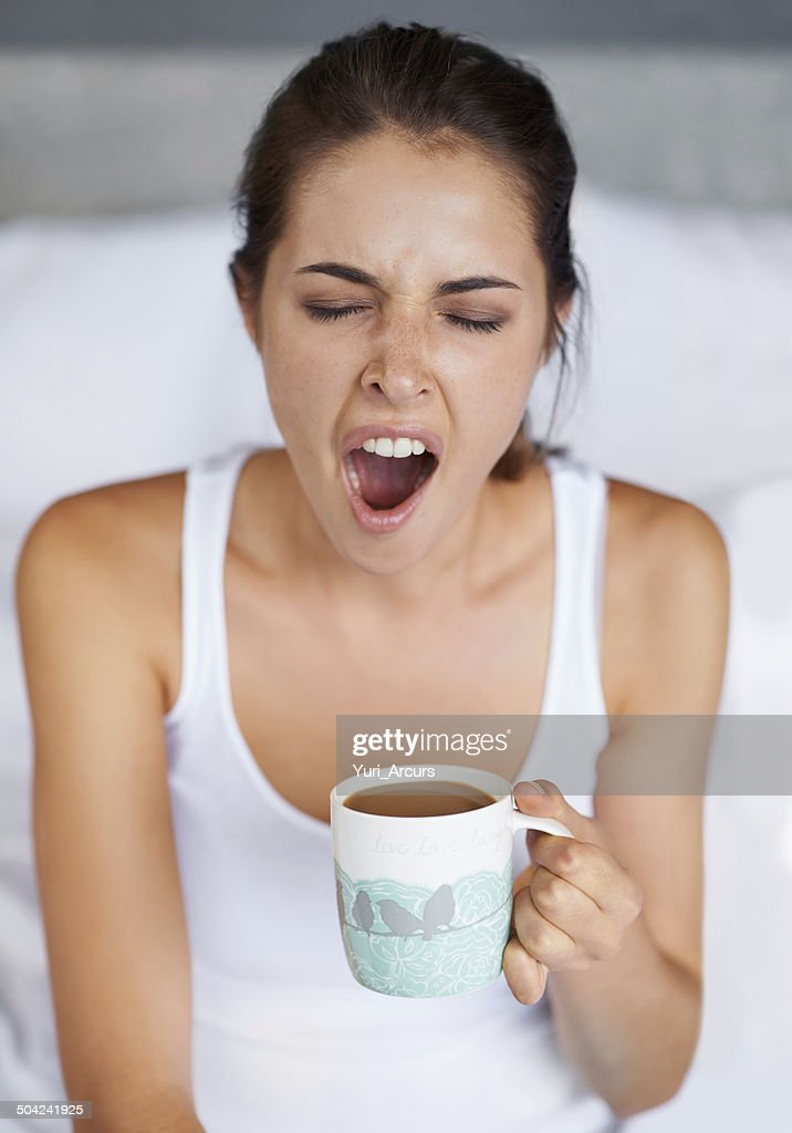 One big YAWN! : Stock Photo