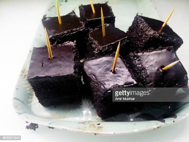 One Bite Chocolate Pastry