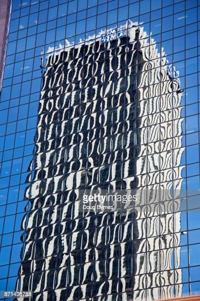 One building reflecting another