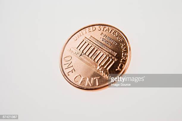 one cent coin - us penny stock pictures, royalty-free photos & images
