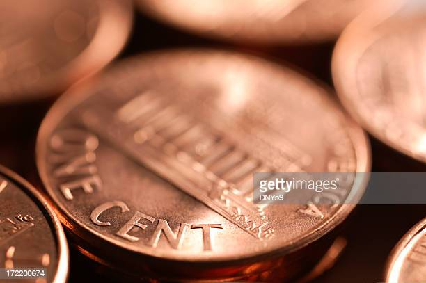one cent - us penny stock pictures, royalty-free photos & images