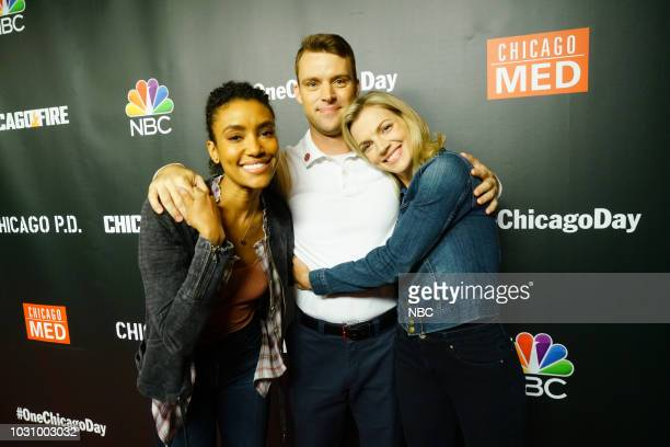 EVENTS 'One Chicago Day' Pictured Annie Ilonzeh Jesse Spencer Kara Killmer 'Chicago Fire' at 'One Chicago Day' at Lagunitas Brewing Company in...