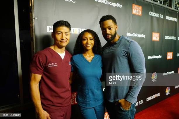 EVENTS One Chicago Day Pictured Brian Tee as Ethan Choi Yaya DaCosta as April Sexton Chicago Med LaRoyce Hawkins Chicago PD at One Chicago Day at...