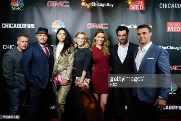 EVENTS 'One Chicago Day' Pictured David Eigenberg Joe Minoso Miranda Rae Mayo Kara Killmer 'Chicago Fire' Norma Kuhlina Colin Donnell 'Chicago Med'...