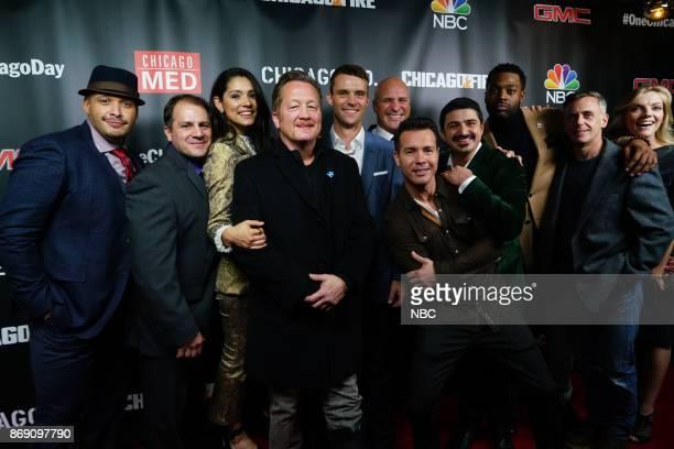 EVENTS 'One Chicago Day' Pictured Jon Minoso Tony Farris Miranda Rae Mayo Christian Stolte Jesse Spencer 'Chicago Fire' Randy Flagler 'Chicago Fire'...