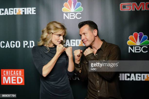 EVENTS 'One Chicago Day' Pictured Kara Killmer 'Chicago Fire' Jon Seda 'Chicago PD' at the 'One Chicago Day' Party at Prime Provisions in Chicago IL...