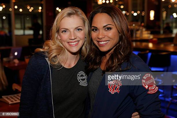 EVENTS One Chicago Day Pictured Kara Killmer Monica Raymond Chicago Fire at the One Chicago Day event at Lagunitas Brewing Company in Chicago IL on...