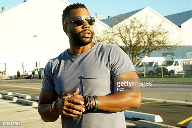 """One Chicago Day"""" -- Pictured: LaRoyce Hawkins takes part in the Chicago P.D. Demonstration at the """"One Chicago Day"""" event on October 24, 2016 --"""
