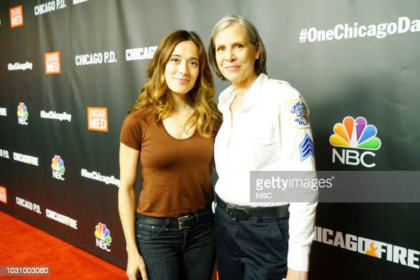 EVENTS One Chicago Day Pictured Marina Squerciati Amy Morton Chicago PD at One Chicago Day at Lagunitas Brewing Company in Chicago IL on September 10...