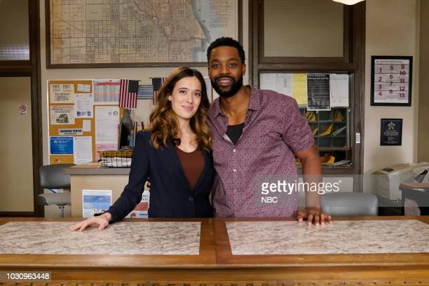 EVENTS One Chicago Day Pictured Marina Squerciati LaRoyce Hawkins Chicago PD at One Chicago Day at Cinespace Chicago Film Studios in Chicago IL on...