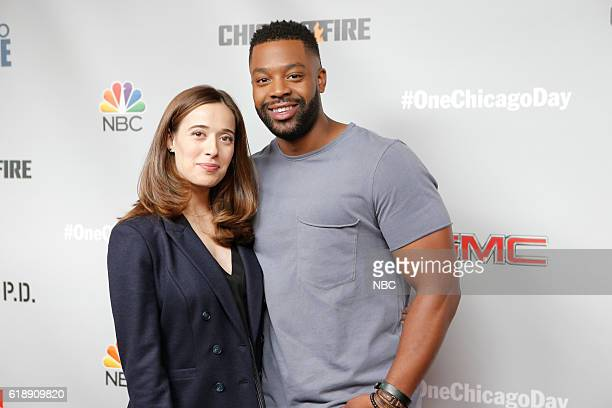 EVENTS One Chicago Day Pictured Marina Squerciati LaRoyce Hawkins Chicago PD at the One Chicago Day event at Lagunitas Brewing Company in Chicago IL...