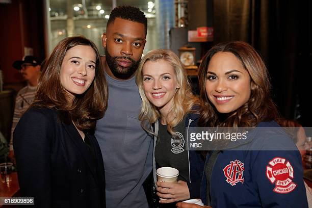 EVENTS One Chicago Day Pictured Marina Squerciati LaRoyce Hawkins Chicago PD Kara Killmer Monica Raymund Chicago Fire at the One Chicago Day event at...