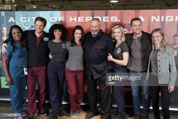 EVENTS One Chicago Day Pictured Marlyne Barrett Nick Gehlfuss Chicago Med Annie Ilonzeh Chicago Fire Torrey DeVitto Chicago Med Dick Wolf Executive...
