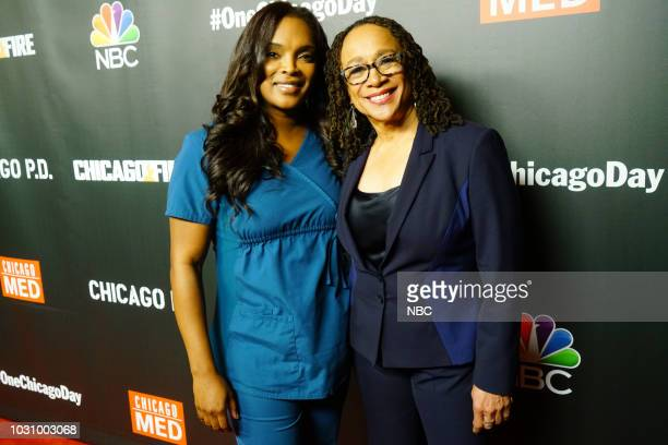 """One Chicago Day"""" -- Pictured: Marlyne Barrett, S. Epatha Merkerson, """"Chicago Med"""" at """"One Chicago Day"""" at Lagunitas Brewing Company in Chicago, IL on..."""