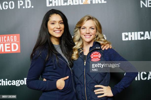 EVENTS 'One Chicago Day' Pictured Miranda Rae Mayo Kara Killmer 'Chicago Fire' at the 'One Chicago Day' event at Lagunitas Brewing Company in Chicago...
