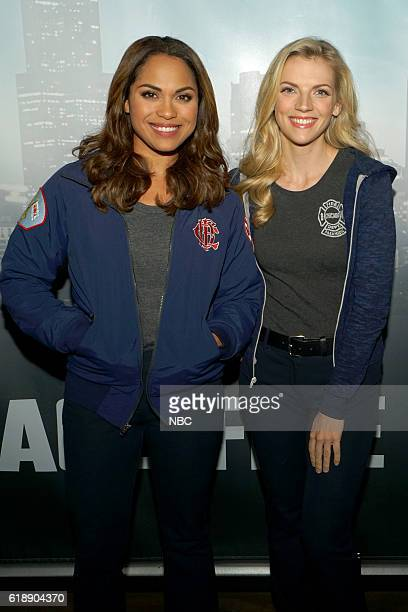 EVENTS One Chicago Day Pictured Monica Raymund Kara Killmer Chicago Fire at the One Chicago Day event at Lagunitas Brewing Company in Chicago IL on...