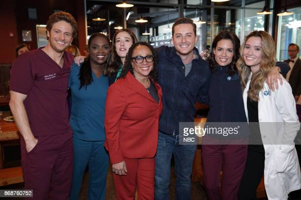 EVENTS 'One Chicago Day' Pictured Nick Gehlfuss Marlyne Barrett 'Chicago Med' Marina Squerciati 'Chicago PD' S Epatha Merkerson 'Chicago Med' Jesse...