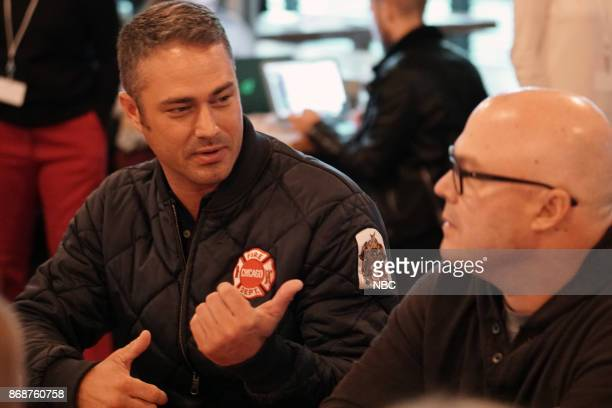 EVENTS 'One Chicago Day' Pictured Taylor Kinney 'Chicago Fire' Derek Haas Executive Producer at the 'One Chicago Day' event at Lagunitas Brewing...