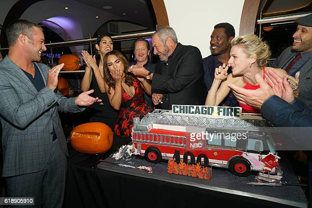 EVENTS One Chicago Day Pictured Taylor Kinney Miranda Rae Mayo Monica Raymund Christian Stolte Dick Wolf Eamonn Walker Kara Killmer Joe Minoso at the...