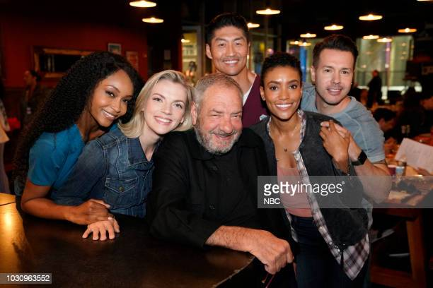 EVENTS One Chicago Day Pictured Yaya DaCosta Chicago Med Kara Killmer Chicago Fire Dick Wolf Executive Producer Brian Tee Chicago Med Annie Ilonzeh...