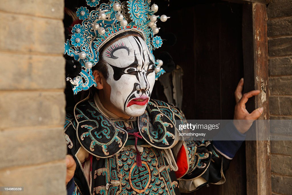 one Chinese opera actor ,He is a folk artist. : Stock Photo