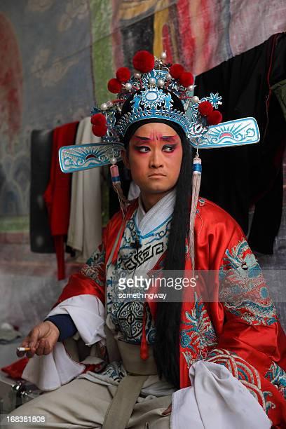one Chinese opera actress smoking