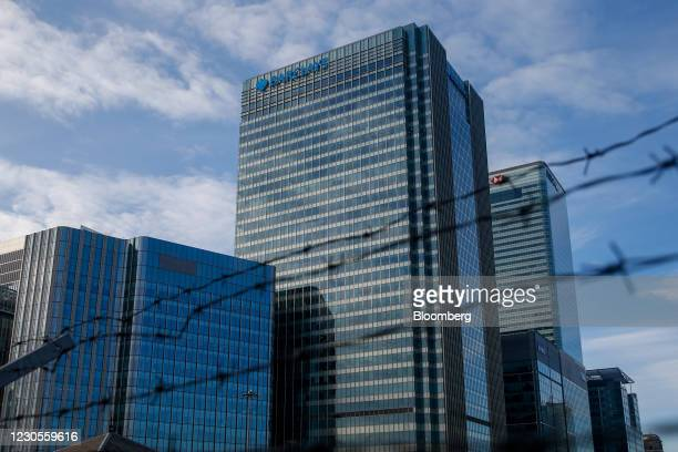 One Churchill Place skyscraper, the Barclays Plc headquarters, at Canary Wharf in London, U.K., on Thursday, Jan. 7, 2021. Persimmon Plc, the U.K.s...