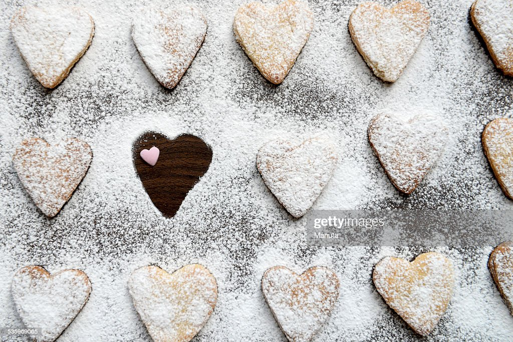 One Cookie Missing in Icing : Stock Photo