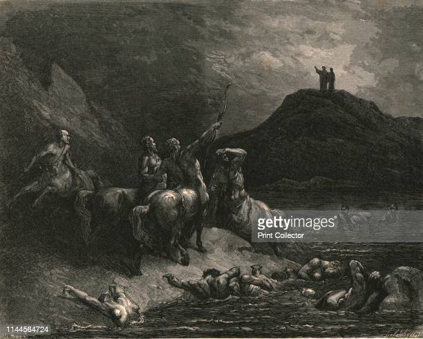 """Say to what pain ye come condemn'd, who down this steep have journied? Speak from whence ye stand, or else the bow I draw""', circa 1890. Centraurs..."