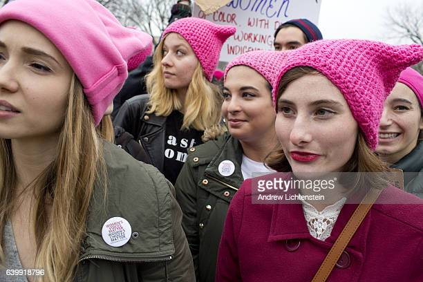 One day after Donald Trump's presidential inauguration an estimated 600000 antiTrump protestors fill the streets during the Women's March on January...