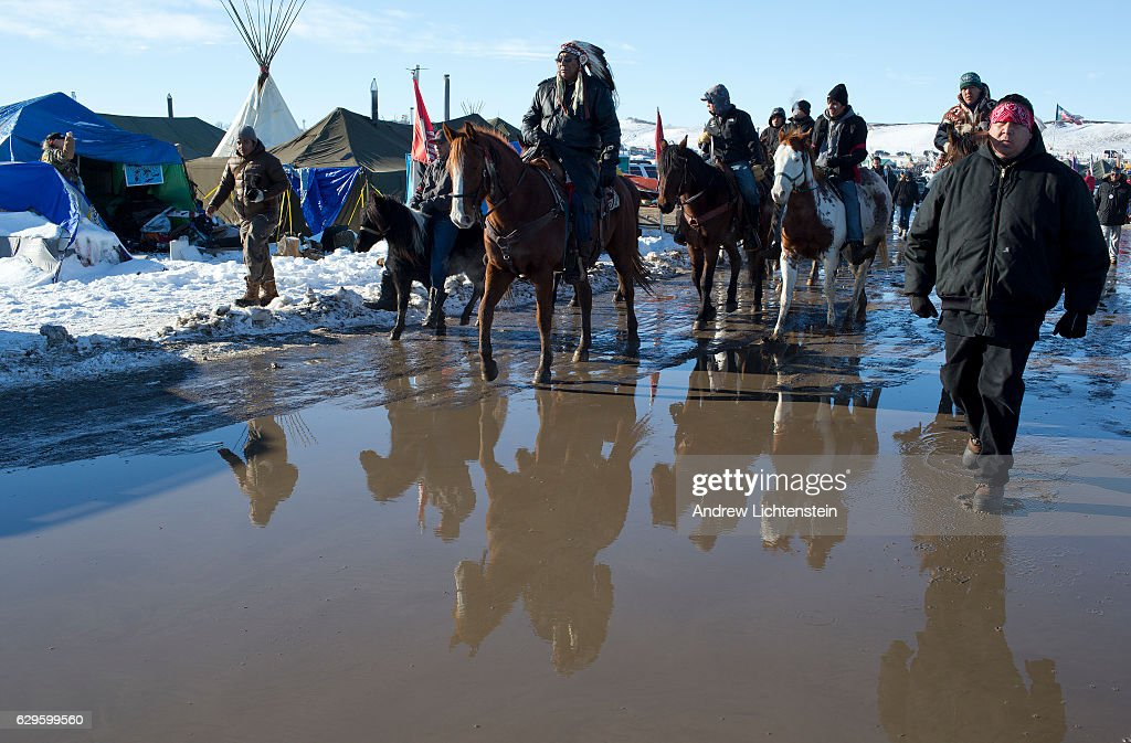 Standing Rock protests against the Dakota Access Pipeline : Nyhetsfoto