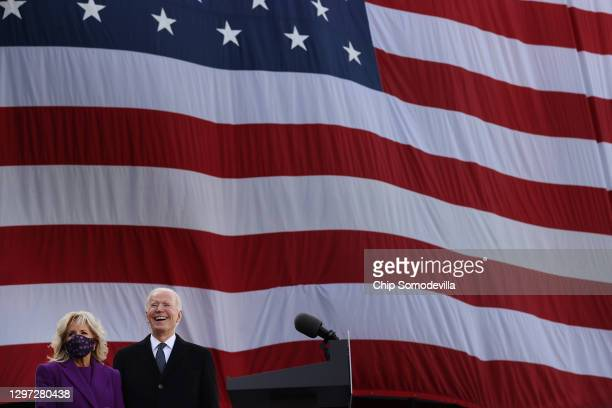 One day before being inaugurated as the 46th president of the United States, President-elect Joe Biden and Dr. Jill Biden participate in a departure...