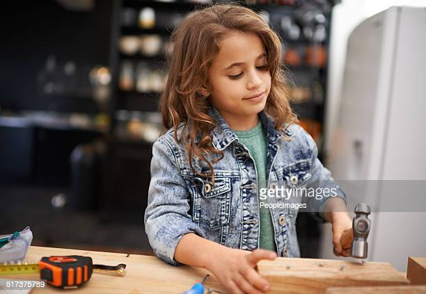 one day i'm going to be a great inventor - tomboy stock photos and pictures