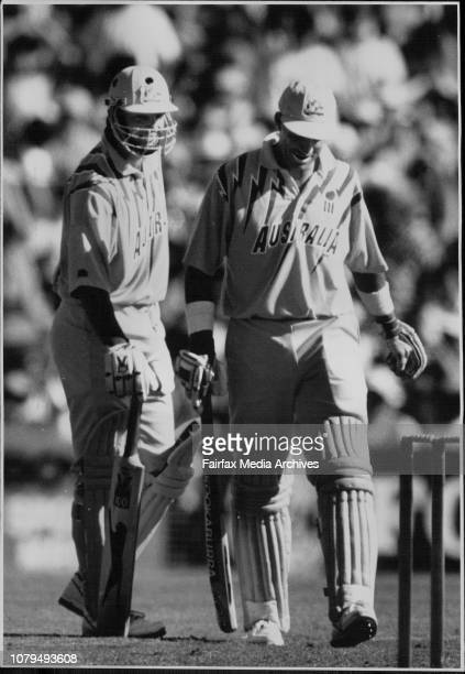 One Day The SCG One Day Cricket 2nd game of the Finals Australia V South AfricaMark Waugh amp Dean JonesThe Destroyers Mark Waugh left and Dean...