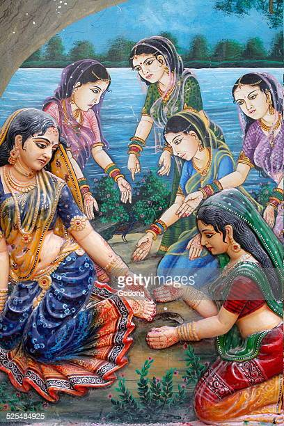 One day when Radha was walking to meet Krishna she stepped on the thick bark of a ripe tamarind fruit and it cut her foot This made her delay in...