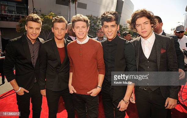 One Direction arrives at the 2012 MTV Video Music Awards at Staples Center on September 6 2012 in Los Angeles California