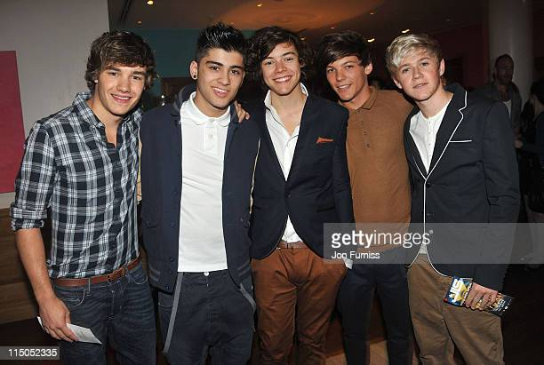 One Direction attends the premiere of 'JLS Eyes Wide Open' at Soho Hotel on May 26 2011 in London England