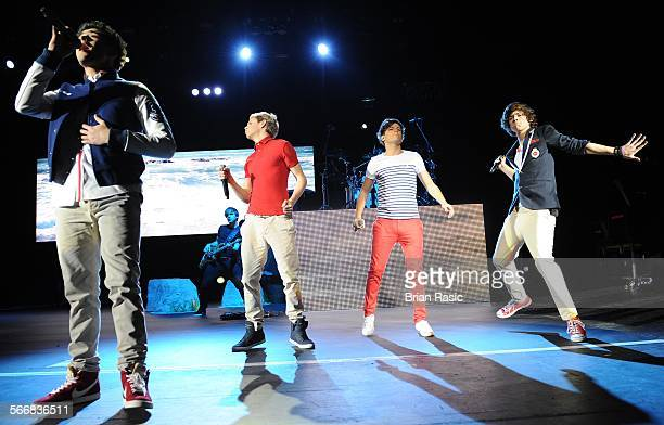 One Direction In Concert At Hammersmith Apollo London Britain 10 Jan 2012 One Direction Zayn Malik Niall Horan Louis Tomlinson Harry Styles