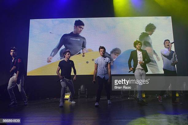 One Direction In Concert Itunes Festival The Roundhouse London Britain 20 Sep 2012 Zayn Malik Niall Horan Louis Tomlinson Harry Styles And Liam Payne...