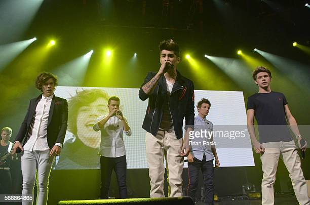 One Direction In Concert Itunes Festival The Roundhouse London Britain 20 Sep 2012 Harry Styles Liam Payne Zayn Malik Niall Horan And Louis Tomlinson...
