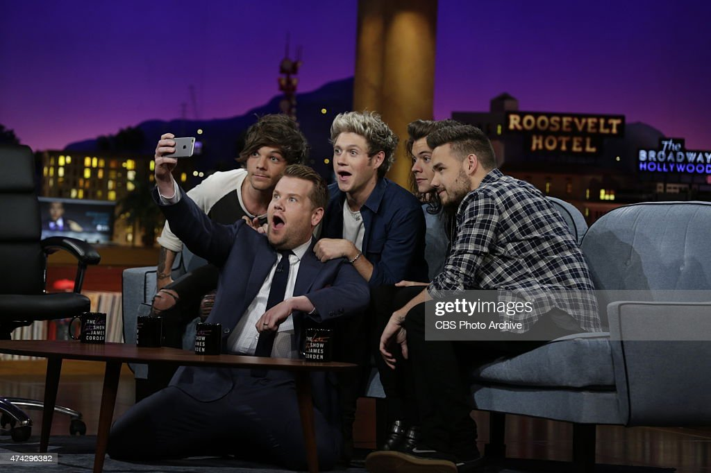 One Direction members Liam Payne, Harry Styles, Louis Tomlinson and Niall Horan join James Corden's Dodgeball appear on 'The Late Late Show with James Corden,' Thursday, May 14 (12:37 -- 1:37 AM, ET/PT) on the CBS Television Network.