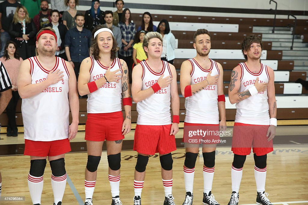 One Direction members Liam Payne, Harry Styles, Louis Tomlinson and Niall Horan join James Corden's Dodgeball team on 'The Late Late Show with James Corden,' Thursday, May 14 (12:37 -- 1:37 AM, ET/PT) on the CBS Television Network.