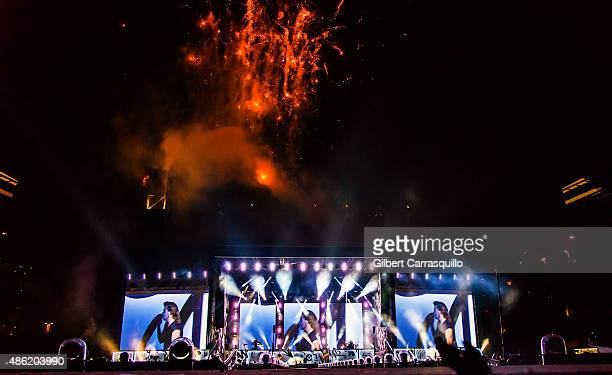 One Direction perform during On the Road Again Tour 2015 at Lincoln Financial Field on September 1 2015 in Philadelphia Pennsylvania