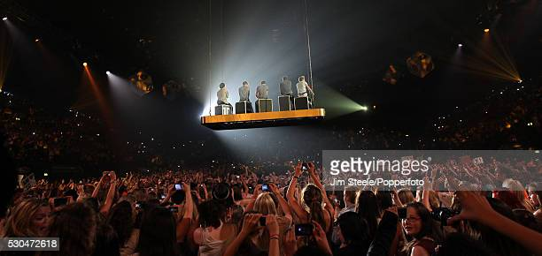One Direction performing on stage during the Popperfoto via Getty Images via Getty Images Radio One Teen Awards at Wembley Arena in London on the 7th...