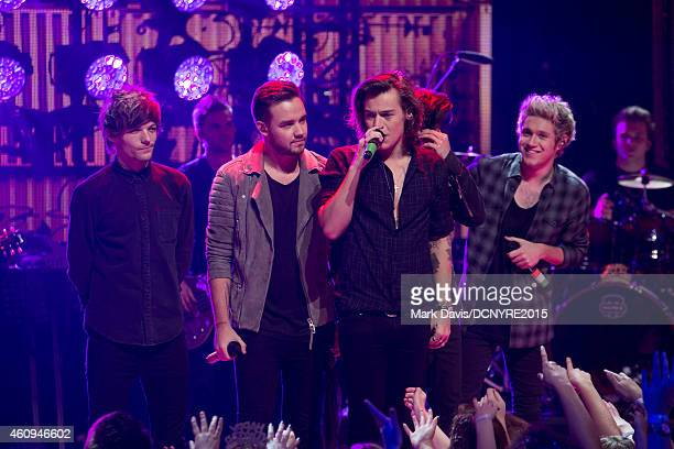 One Direction performs at Dick Clark's New Year's Rockin' Eve With Ryan Seacrest 2015 at CBS Television City in Los Angeles California on December 31...