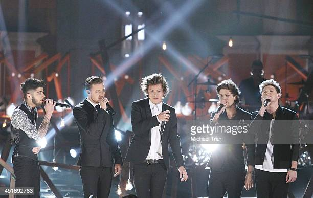 One Direction performs onstage at the 2013 American Music Awards held at Nokia Theatre LA Live on November 24 2013 in Los Angeles California