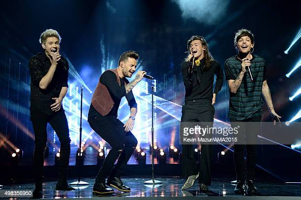 One Direction performs onstage during the 2015 American Music Awards at Microsoft Theater on November 22 2015 in Los Angeles California