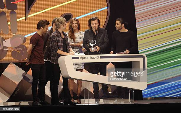 One Direction receives a '40 Principales Award' at the Palacio de los Deportes on December 12 2014 in Madrid Spain