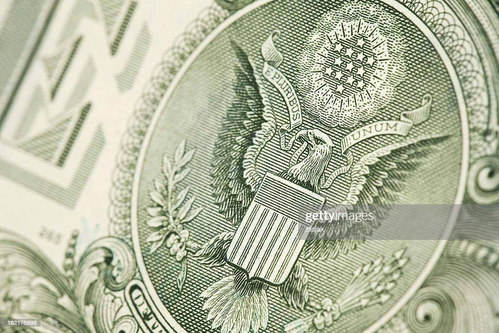 One Dollar Bill & The Great Seal : Stock Photo